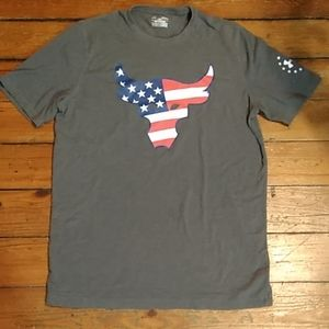 Under armour Project bull red white blue flag tee
